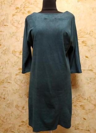 Очень классное стильное платье насыщенного бутылочного цвета, ...
