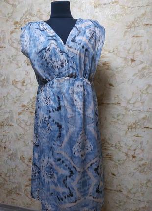 Нежное невесомое платье в голубых тонах, размер 46-48