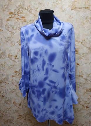 Очень стильная нарядная блуза в нежных тонах, размер 48-52
