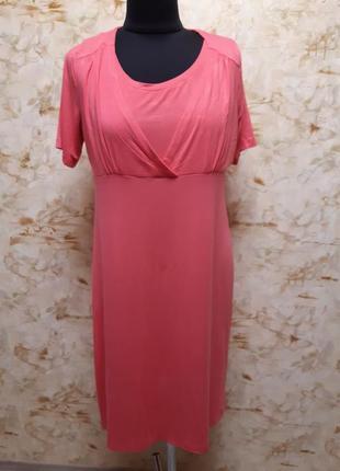 Стильное яркое трикотажное платье, размер 44