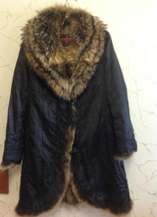 Шикарное  пальто -шуба, размер 44