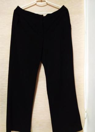 Классические трикотажные брюки , насыщенного черного цвета, ра...
