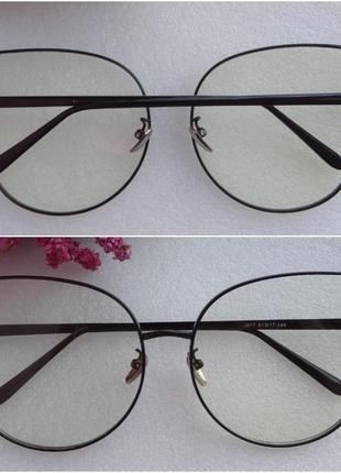 Новые модные очки для имиджа бабочка, черные