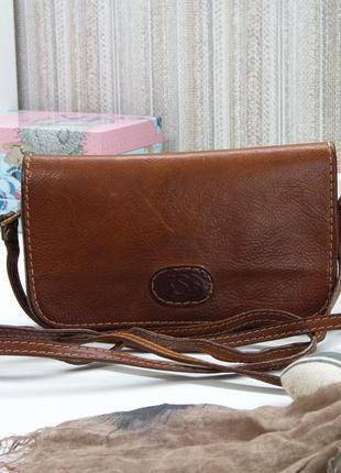 Классная сумка кроссбоди, италия, натуральная кожа.