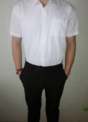 Белая рубашка , короткий рукав , размер L