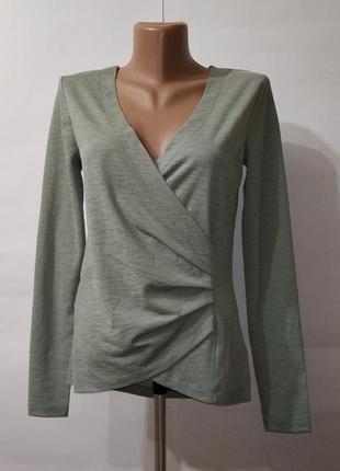 Блуза зеленая новая на запах next uk 6/34/xxs