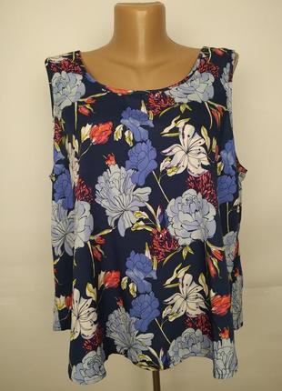 Блуза цветочная легкая красивая в цветы с бантом по спинке uk ...