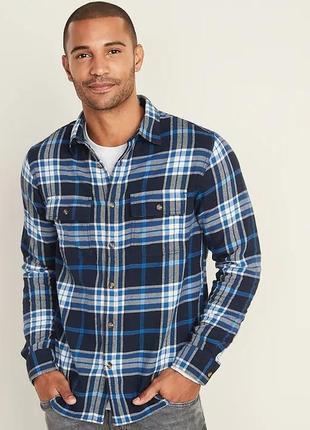 Фланелевая мужская рубашка  old navy рубашки олд неви