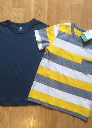 Набор футболок h&m, фирменная футболка для мальчика, р. 4-6 л,...