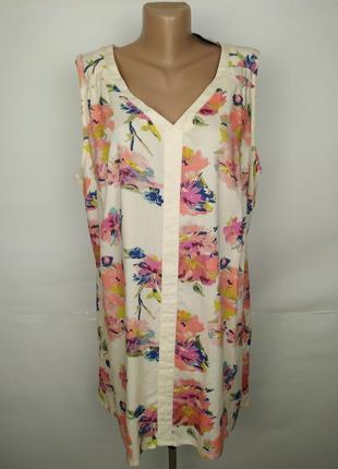 Блуза туника новая натуральная в цветы большой размер uk 20/48...