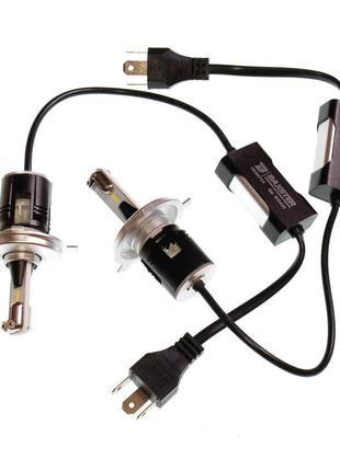 LED лампы H4 с обманкой! 6000K 4300lm 12-24V Светодиодные ламп...