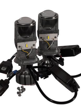BI-LED линзы H4 40W 12-24V 5000K 6000 Lm. Авто линзы (Диоды LG...