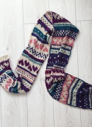 Шарф, разноцветный шарф.