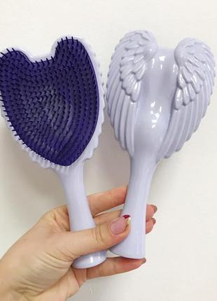 Расческа- щетка для волос angel фиолетовая к.16052_1