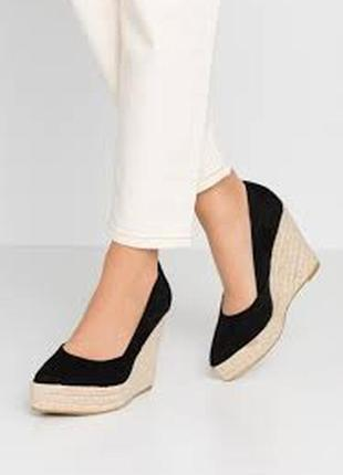 Raid tanika туфли замшевые на танкетке платформе