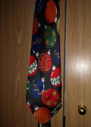 Новогодний галстук музыкальный