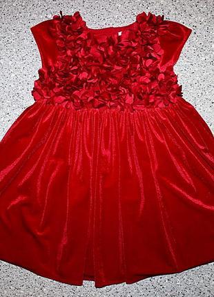 Красное платье бархат велюр