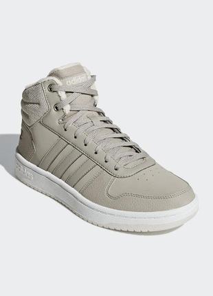 Женские ботинки adidas hoops 2.0 mid w(артикул:b42107