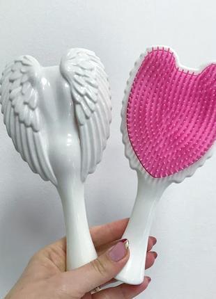 Расческа- щетка для волос angel,белый/розовый к.16052_3