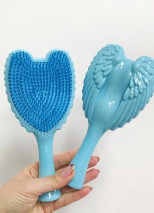 Расческа- щетка для волос angel,голубая к.16052_4