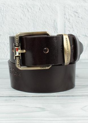 Кожаный ремень под джинсы 8008-423 коричневый 40 мм, итальянск...