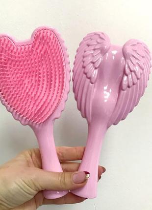Расческа- щетка для волос angel,розовая к.16052_2