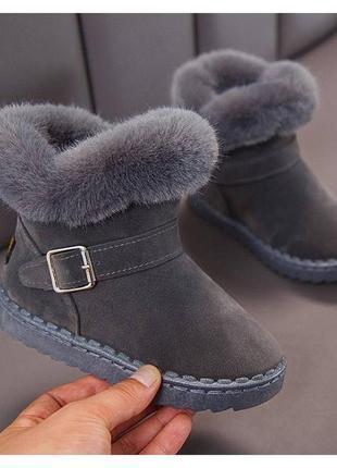Ботинки для девочек зимние x & k серые