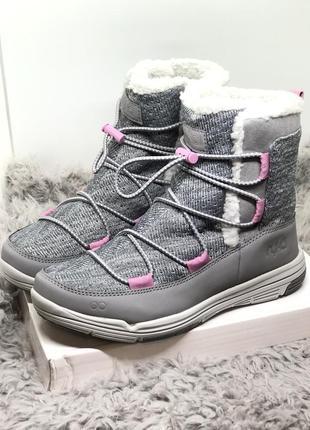 Спортивные ботинки, дутики, полусапоги бренд серо-розовые