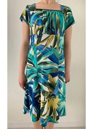 Сукня голубого та синіх кольорів, плаття.