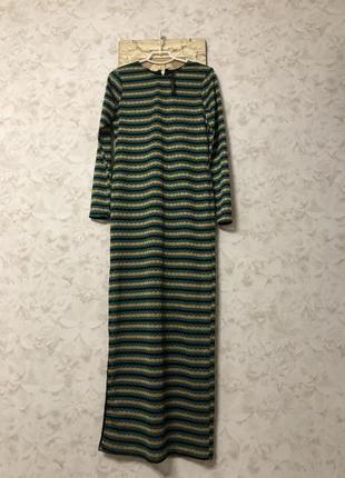 Нарядное макси платье с разрезом сбоку river island, новое!