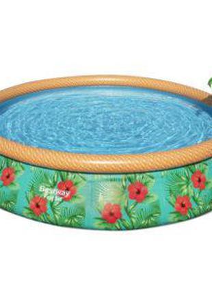 Бассейн круглый с фильтр-насосом Bestway (57416) 457х84 см