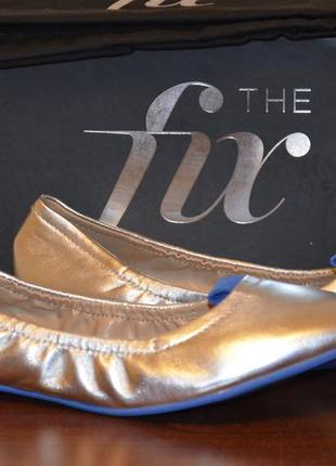 The fix балетки кожаные, серебро, 37. 5 размер.