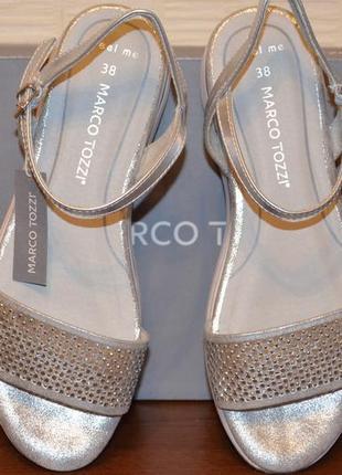 """""""marco tozzi"""" босоножки серебро, 38й размер."""