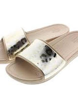 """crocs"" sloane metallic slide шлёпанцы , w10 на 27см."