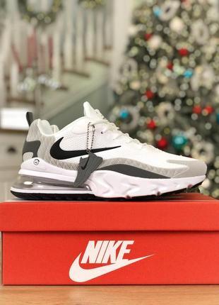 Шикарные мужские кроссовки nike air max 270 react white 😍