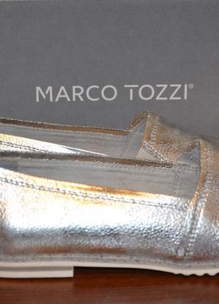 """""""marco tozzi"""" балетки, серебро, 38й размер, на 25см."""