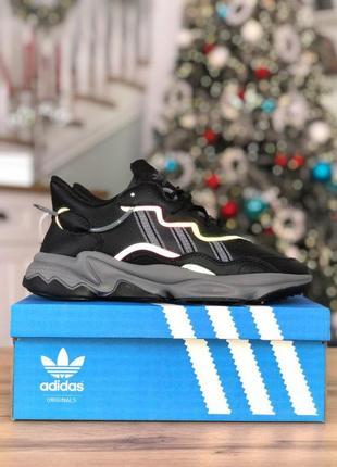 Шикарные мужские кроссовки adidas ozweego black reflective 😍