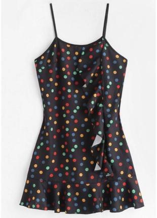 Плаття, сукня трендова, в горошек стиль 80, модна сукня, кокте...