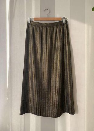 Нарядная плотная юбка плиссе, новая!