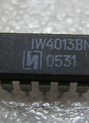 Микросхема IW4013BN КР1561ТМ2 561ТМ2 4013 CD4013 HEF4013