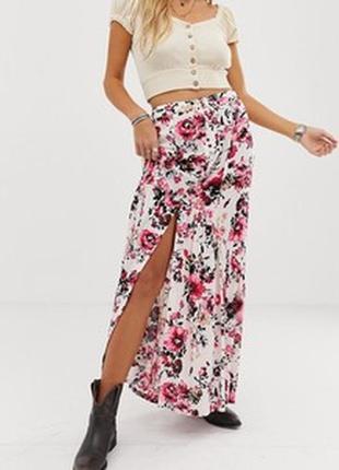 🌺🎀🌺длинная красивая женская легкая юбка в цветочный принт next🔥🔥🔥