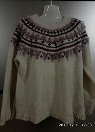 Теплый уютный свитер,m/l/xl