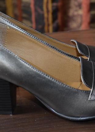 Туфли eurosoft кожаные, 9.5us, на 26. 5см.