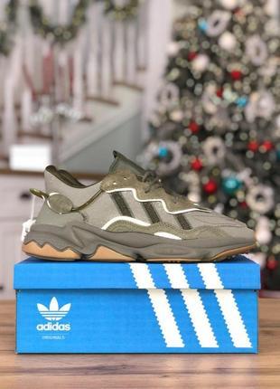 Шикарные мужские кроссовки adidas ozweego khaki reflective 😍