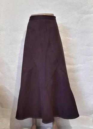 Фирменная marks & spenser длинная юбка годе сдержаного цвета м...