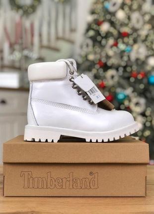 Шикарные женские зимние ботинки/ сапоги timberland white 😍 (на...