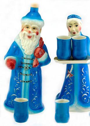 Подарочный набор Дед Мороз и Снегурочка,8 предметов