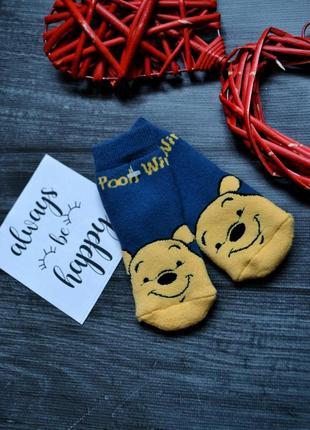 Махровые теплые носки winnie pooh