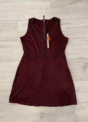 Новое замшевое красивое платье