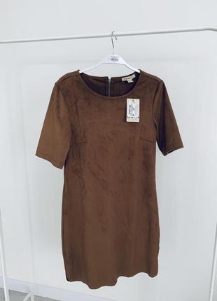 Платье из эко-замши